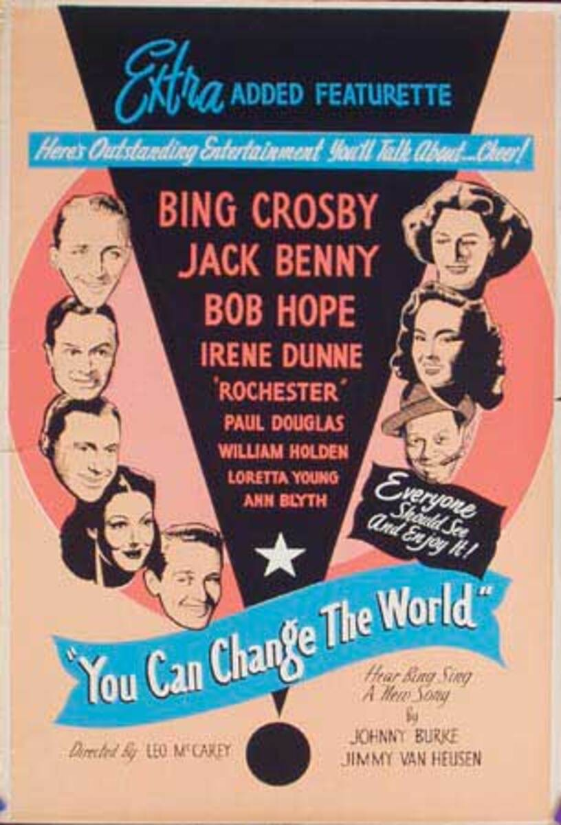 You Can Change the World Original Vintage Movie Poster
