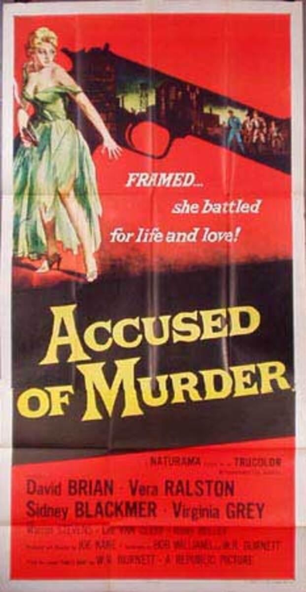 Accused of Murder B Vintage Original Movie Poster 3 Sheet