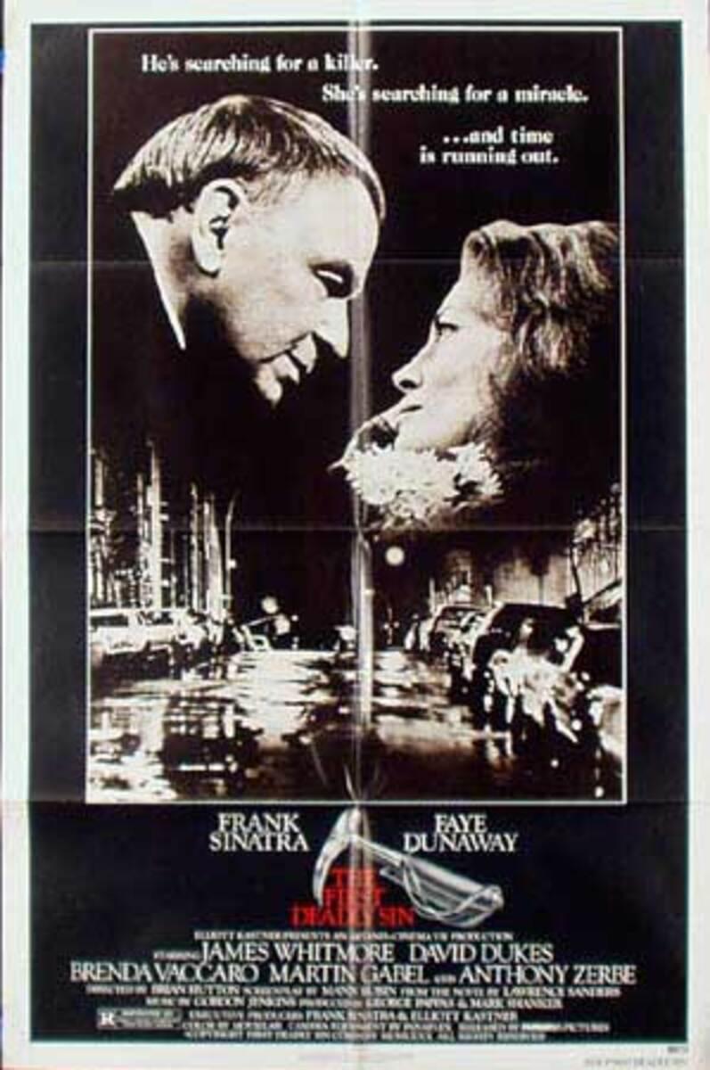 First Deadly Sin Original Vintage Movie Poster