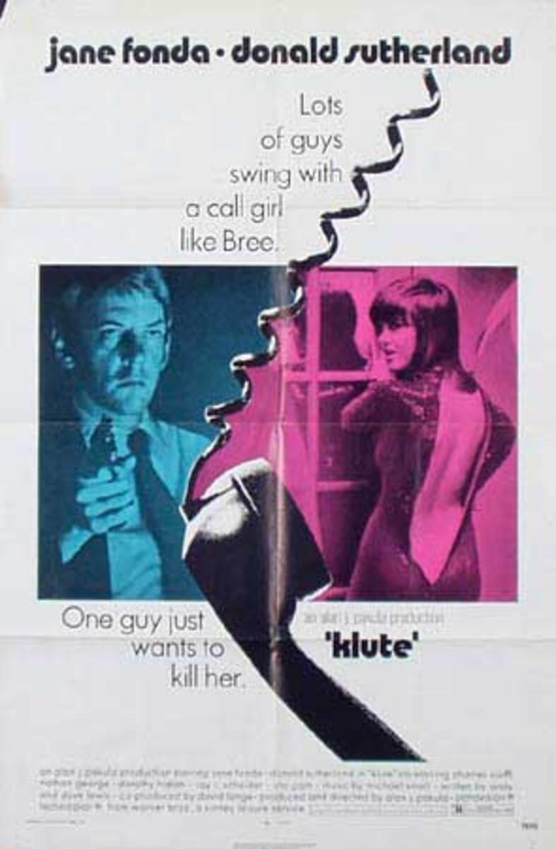 Klute Original Vintage Movie Poster