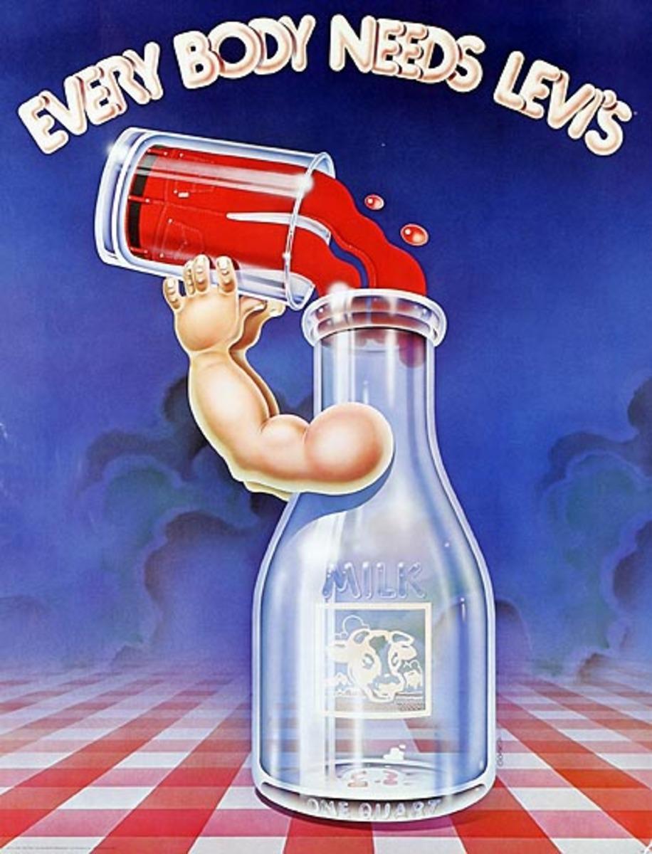 Every Body Needs Levi's Original Advertising Poster