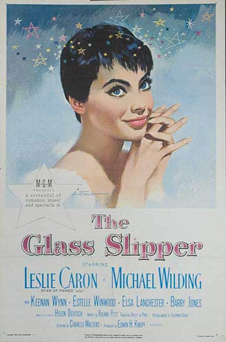 The Glass Slipper Original Leslie Caron American Movie Poster