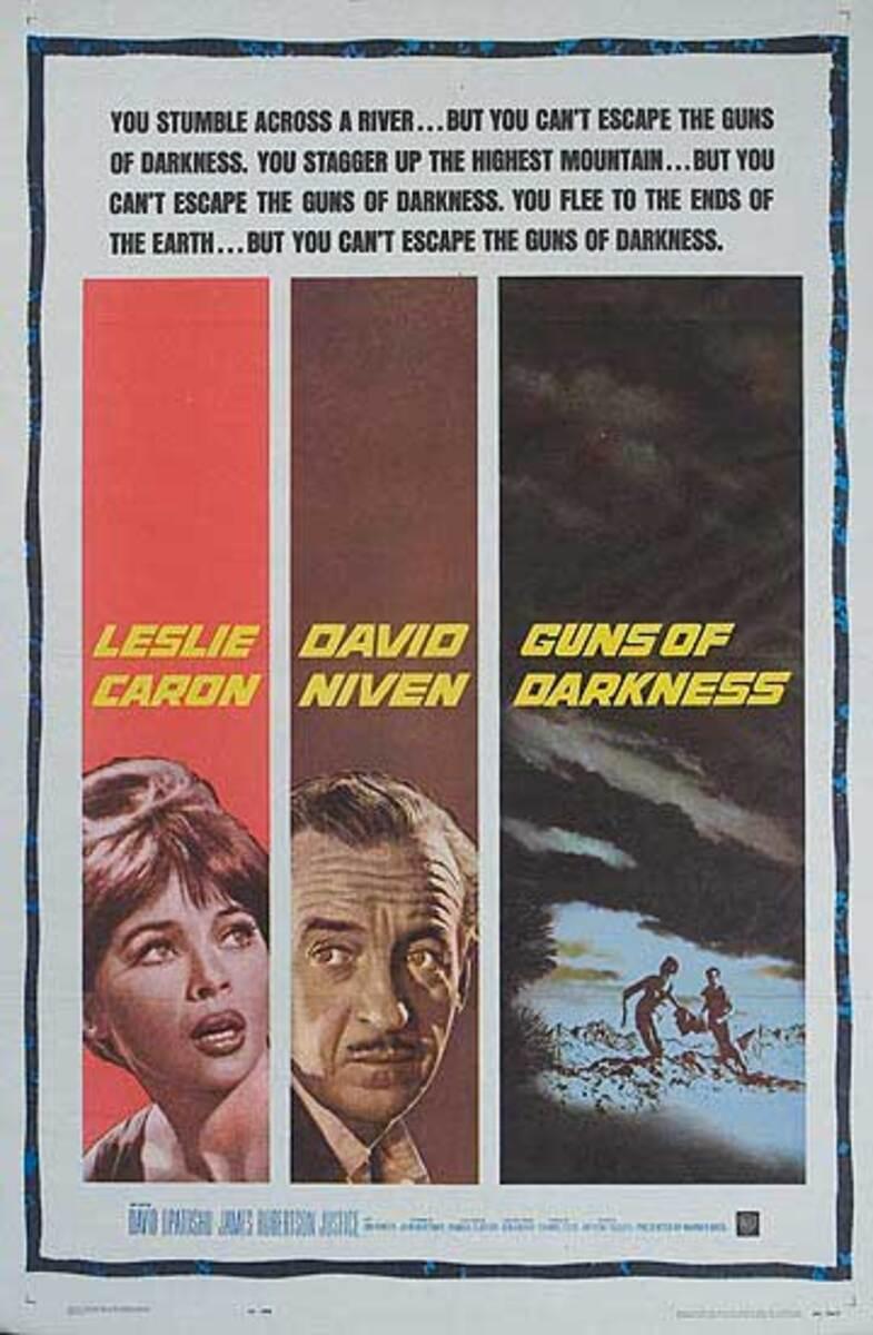 Guns Of Darkness Original Leslie Caron American Movie Poster