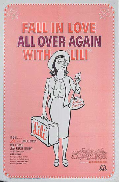 Lili Original Leslie Caron American Movie Poster