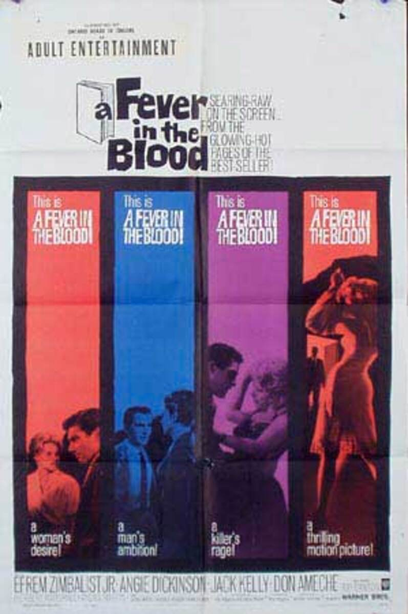 Fever in the Blood Original Vintage Movie Poster