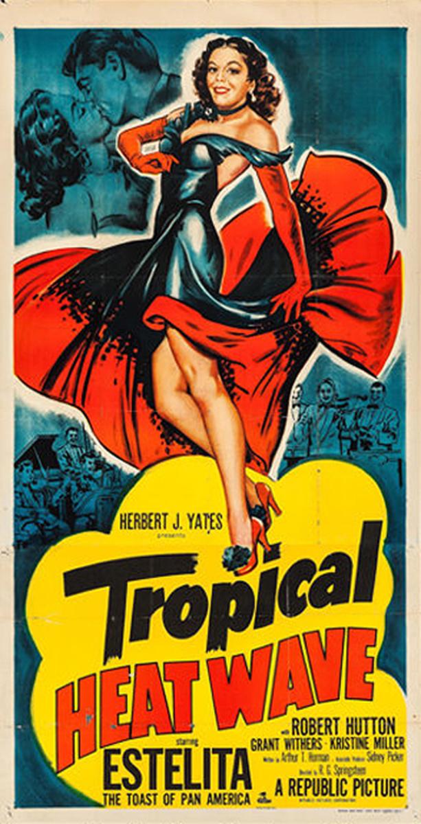 Tropical Heatwave  B Vintage Original Movie Poster 3 Sheet