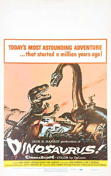 Dinosaurus! Original American Horror Movie Poster