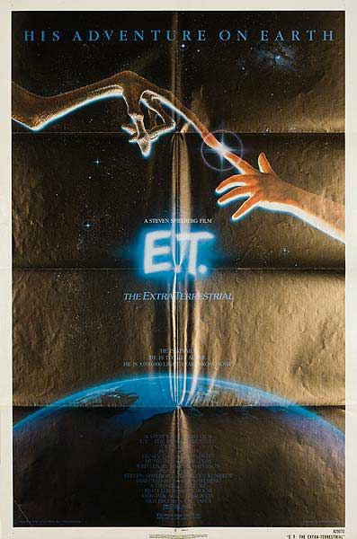 ET The Extraterrestrial Original American 1 Sheet Movie Poster