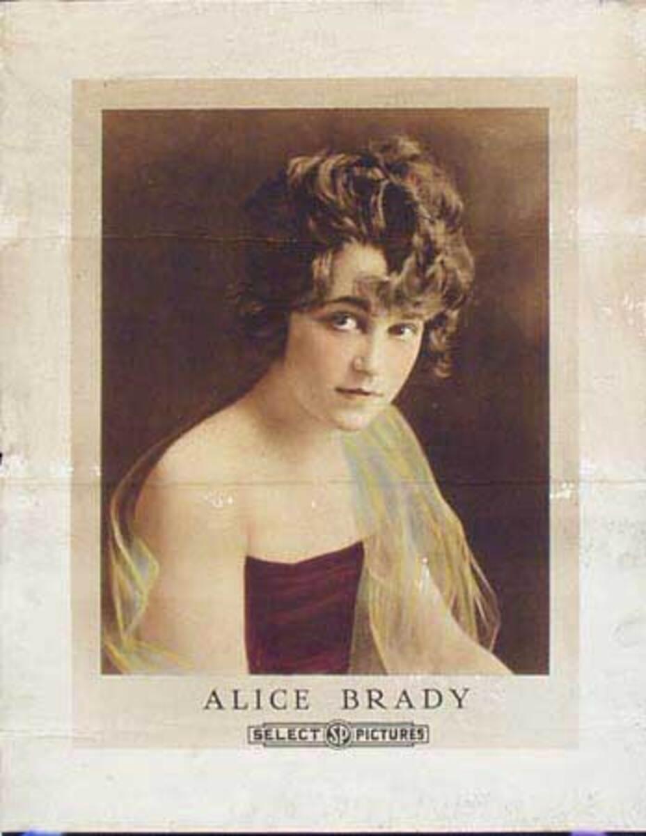 Silent Movie Original Vintage Advertising Portrait Alice Brady