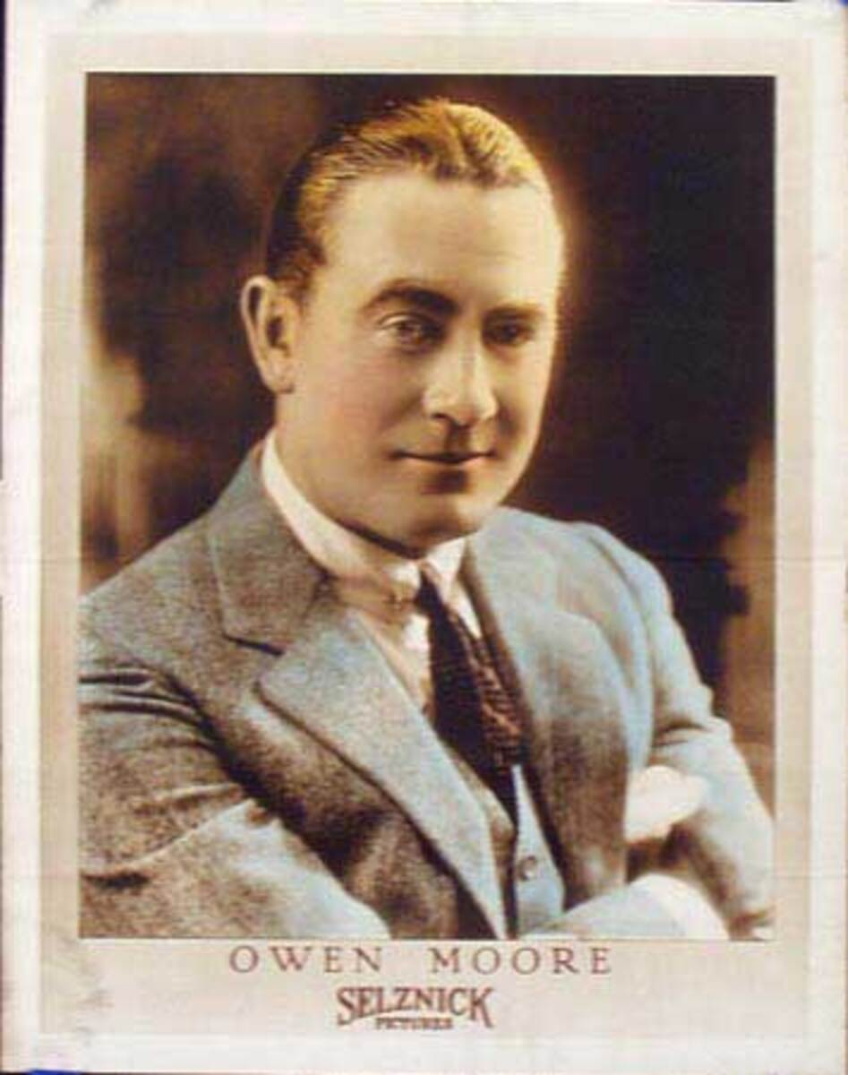 Silent Movie Original Vintage Advertising Portrait Owen Moore