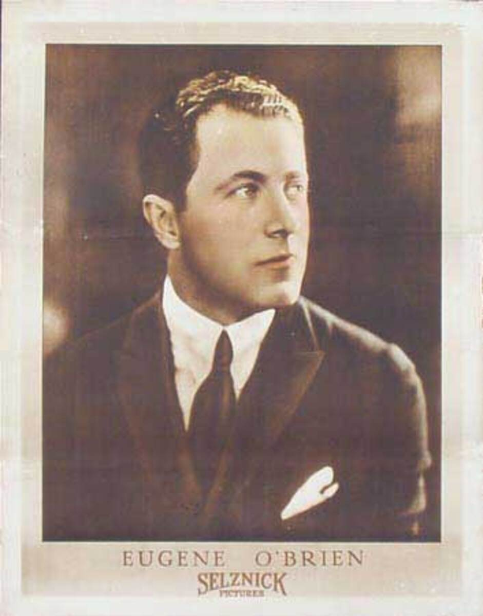 Silent Movie Original Vintage Advertising Portrait Eugene O'Brien