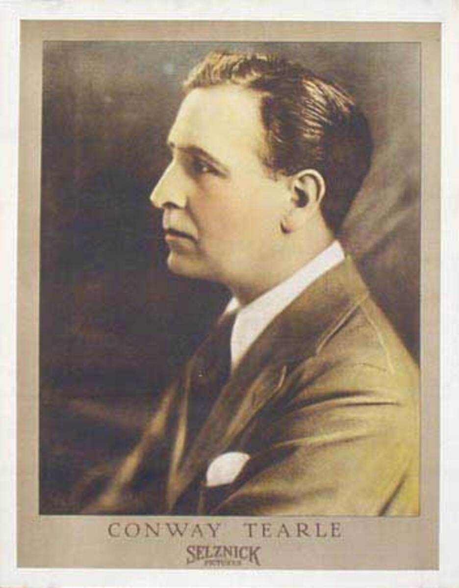 Silent Movie Original Vintage Advertising Portrait Conway Tearle