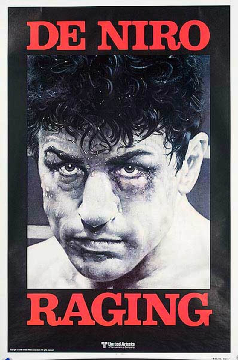 Raging Bull advance release Vintage Original Movie Poster