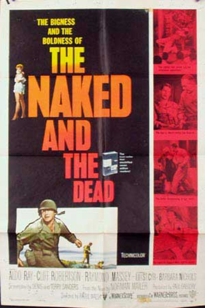 The Naked and the Dead Original Vintage Movie Poster