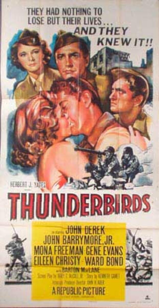 Thunderbirds  B Vintage Original Movie Poster 3 Sheet
