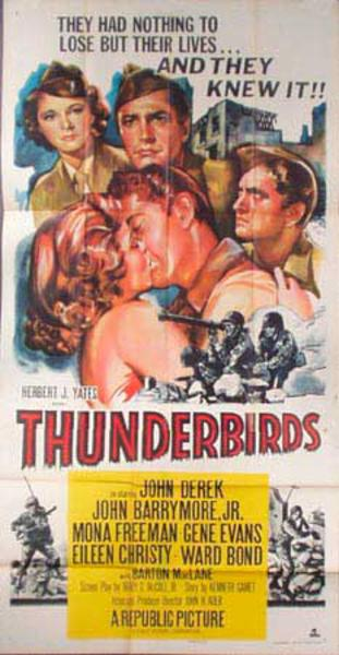 Thunderbirds  B Vintage Original Movie Poster 3 Sheet