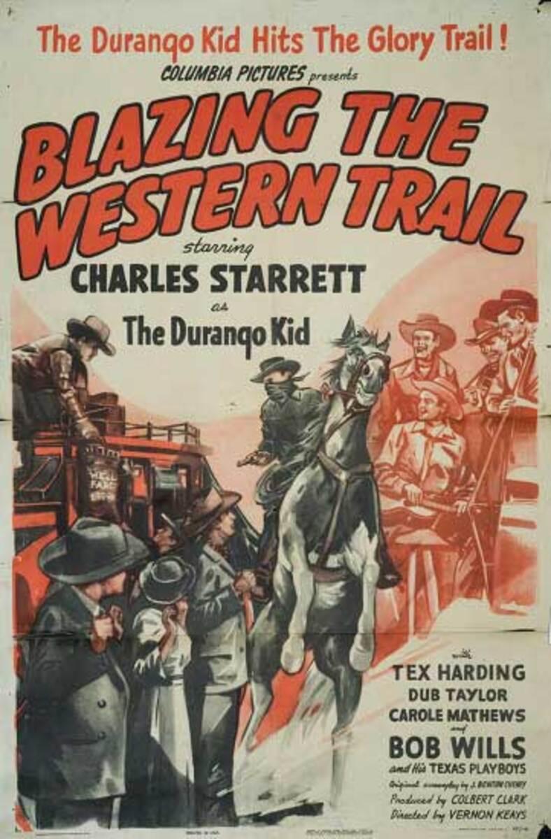 Blazing the Western Trail Original Vintage Movie Poster