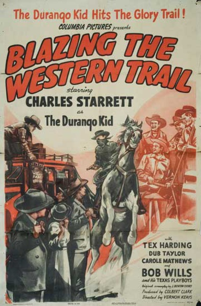 Blazing the Western Trail Original Vintage Movie Poster