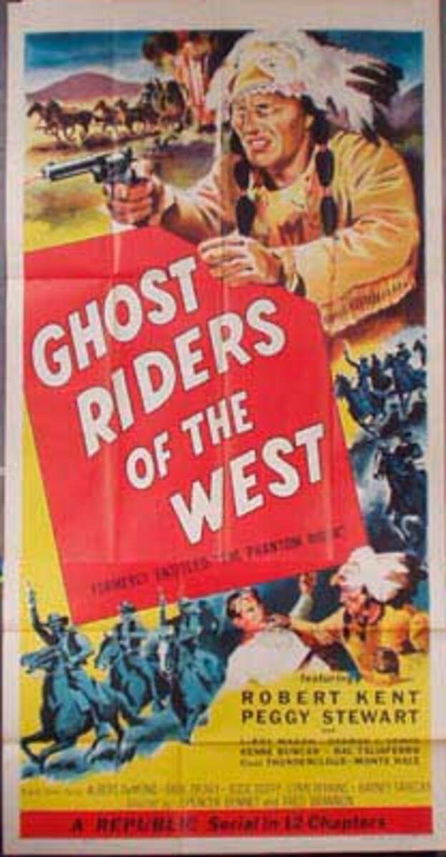 Ghost Riders of the West  B Vintage Original Movie Poster 3 Sheet