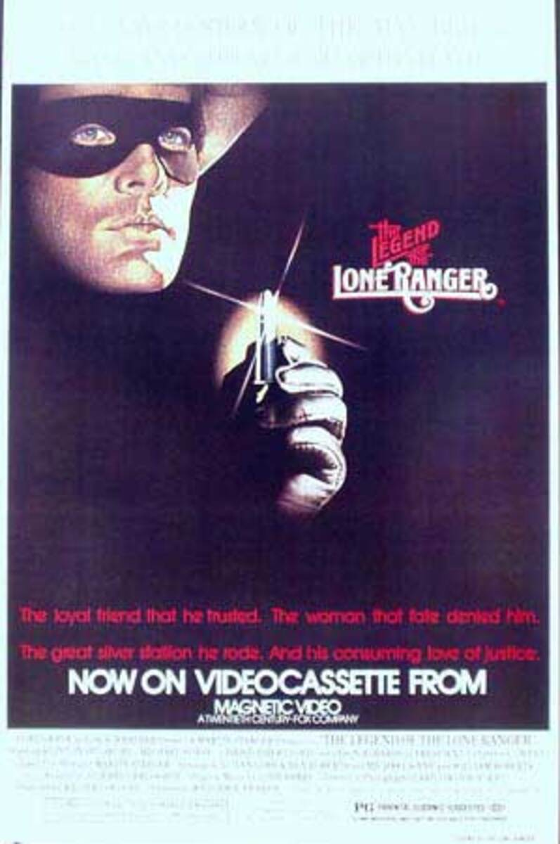 Legend of the Lone Ranger Video Release Original Vintage Movie Poster