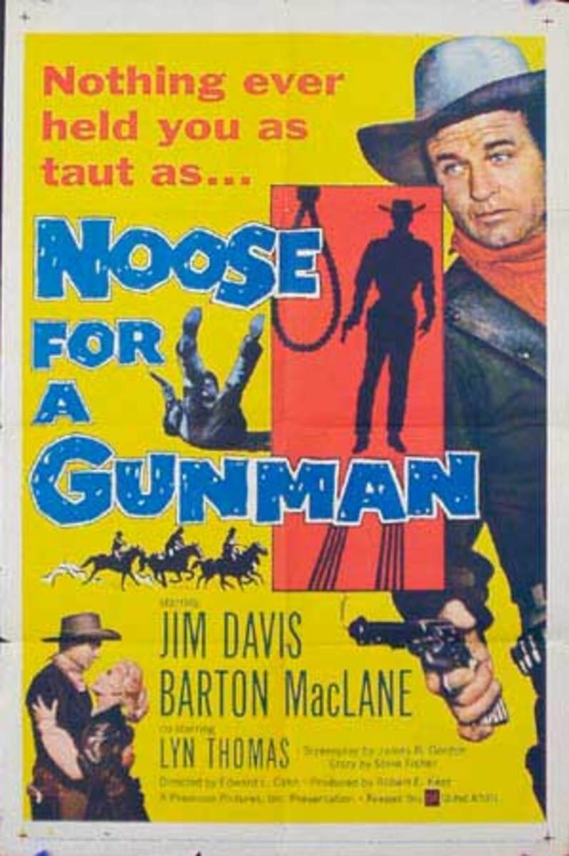 Noose For a Gunman Original Vintage Movie Poster