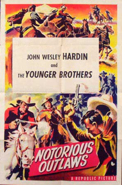 Notoriuos Outlaws Original Vintage Western Movie Poster