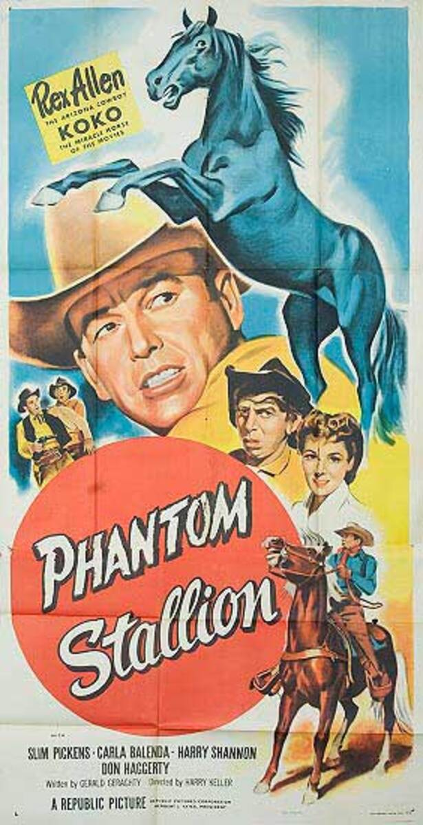 Phantom Stalion  B Vintage Original Movie Poster 3 Sheet