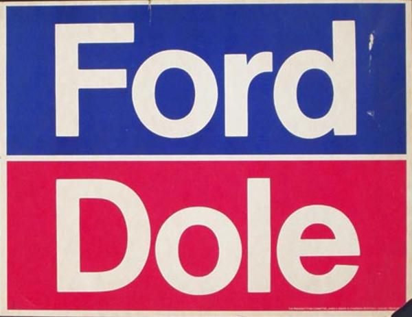 Ford Dole Original Vintage Political Poster