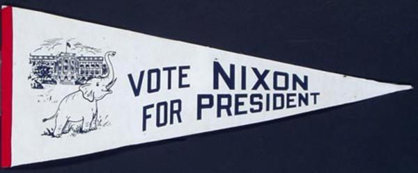 Nixon Original Vintage Political Pennant