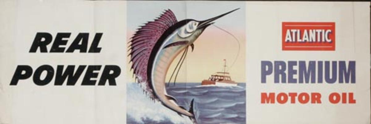 Atlantic Motor Oil Poster Deep Sea Fishing horizontal