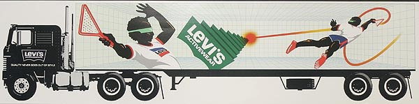 Levi's Pants Original Advertising Poster racketball truck