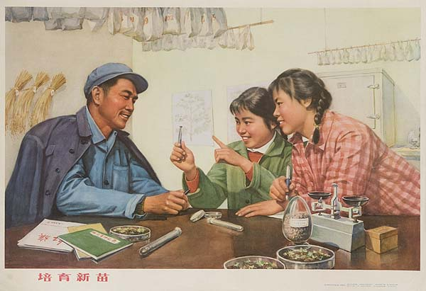 AAA Teach the Younger Generation Original Chinese Cultural Revolution Poster