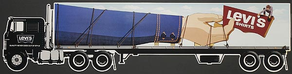 Levi's Pants Original Advertising Poster gulliver arm die cut