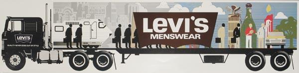 Levi's Pants Original Advertising Poster menswear