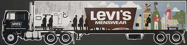 Levi's Pants Original Advertising Poster menswear die cut