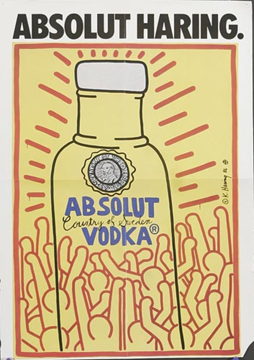 Absolut Vodka Original American Advertising Poster Keith Haring