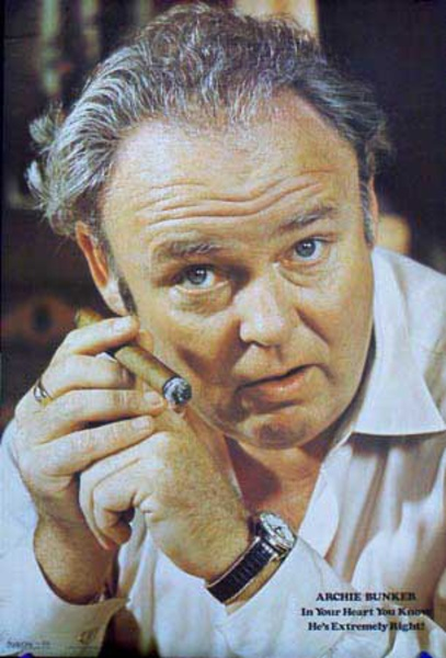 Archie Bunker, You Know He's Extremely Right Original Vintage Poster