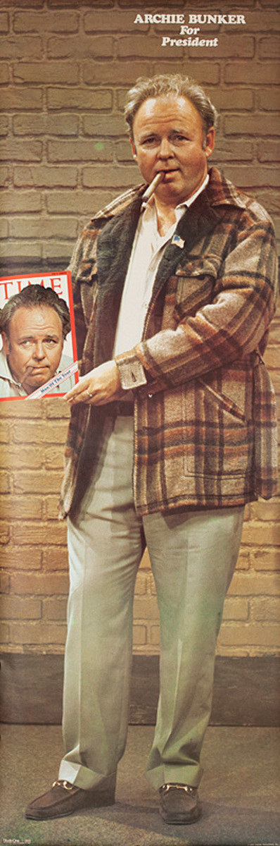Psychedelic 1960s Era Poster Archie Bunker For President  All In The Family