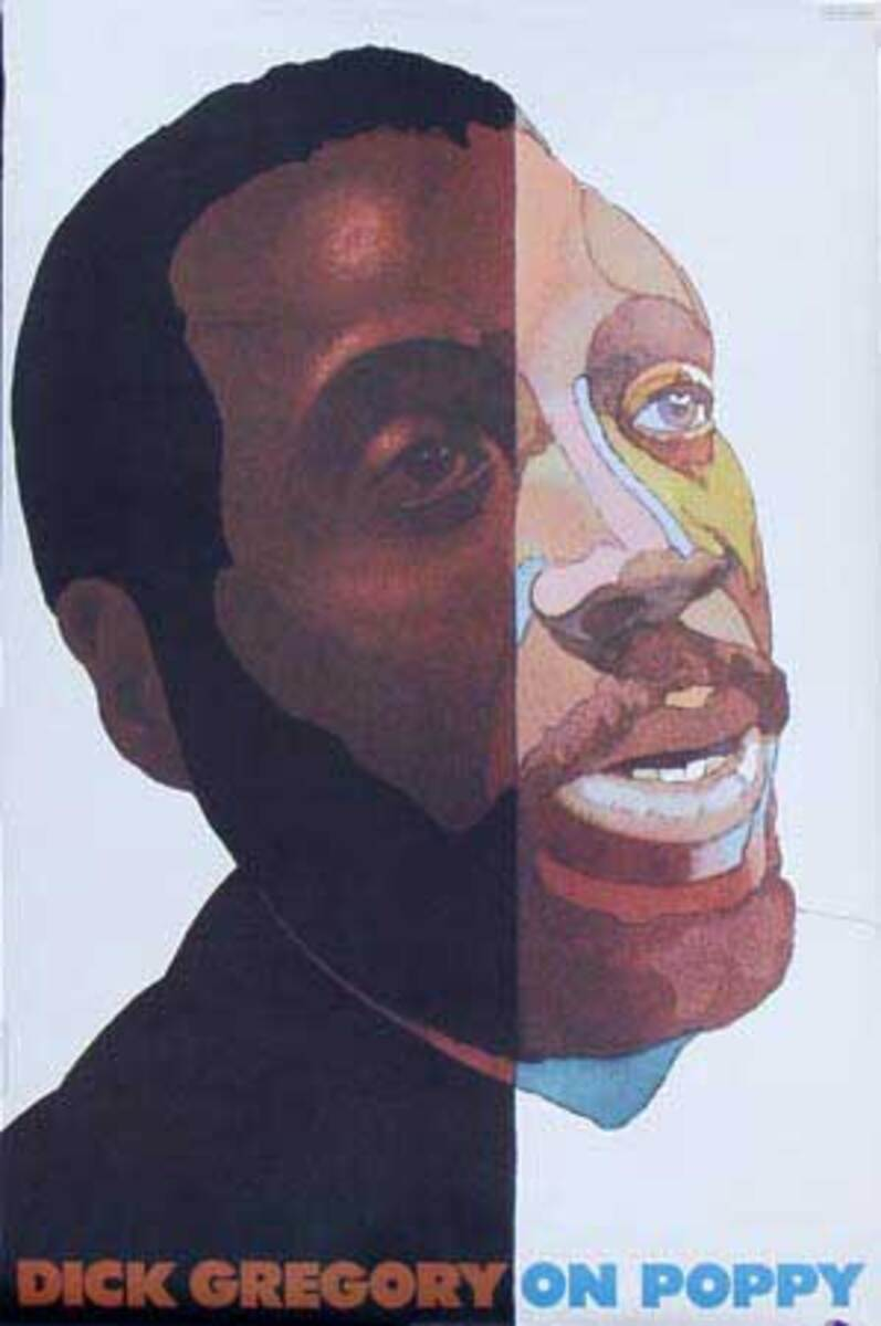 Dick Gregory On Poppy (records) Original Vintage Poster