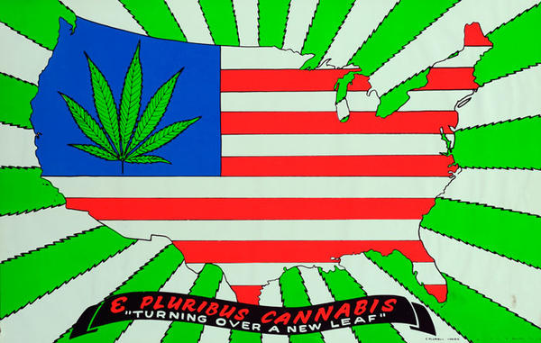 E Pluribus Cannibus Turning Over a New Leaf Original American Protest Poster
