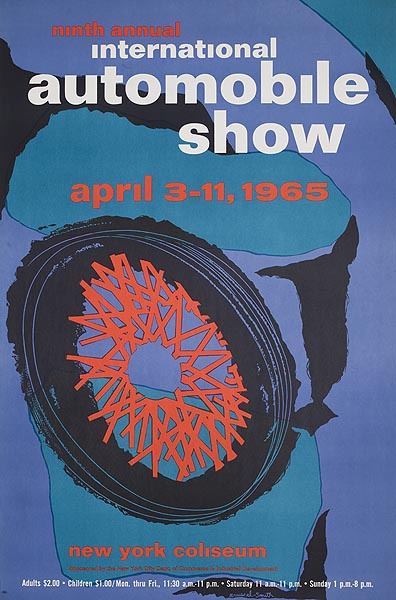 9th Annual International Auto Show Original Advertising Poster 1965 [[New York]] Coliseum