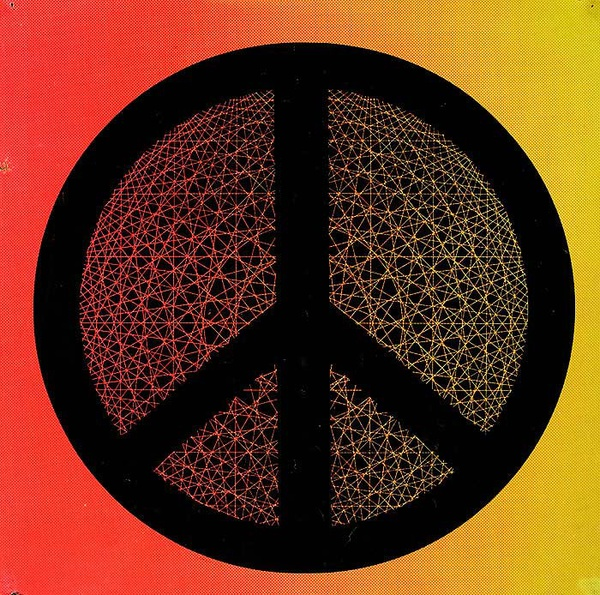 1960s Psychadelic Peace Sign Poster