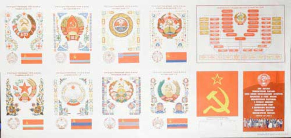 Soviet Country Banners Original USSR Soviet Union Propaganda Poster