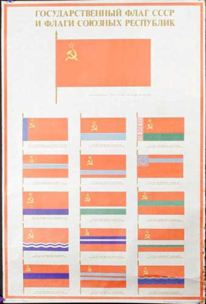 Soviet Union Counrty Flags Original USSR Soviet Union Propaganda Poster