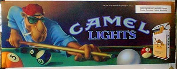 Original Vintage Camel Light Pool  Player Poster
