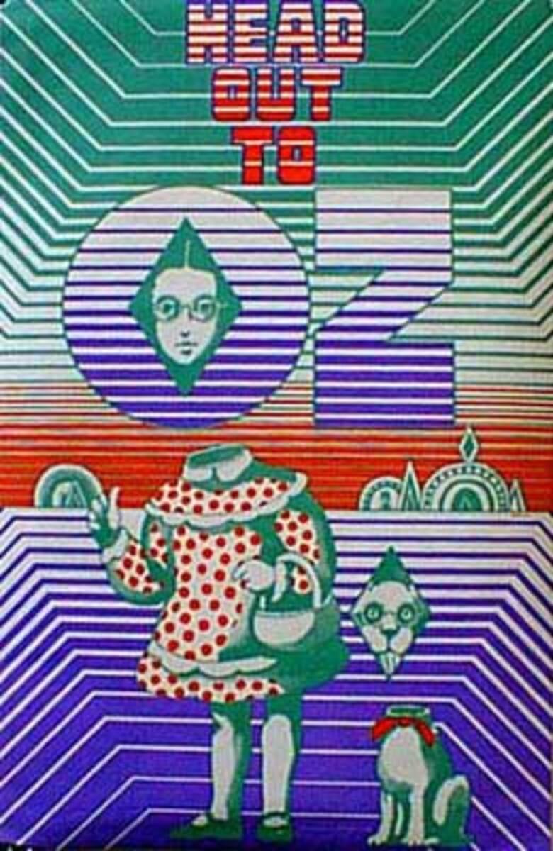 Head Out to Oz Psychedelic Drug Original Vintage Poster