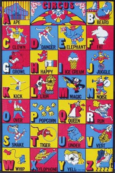 Alphabet Circus Original Vintage 1971 Psychedelic Poster
