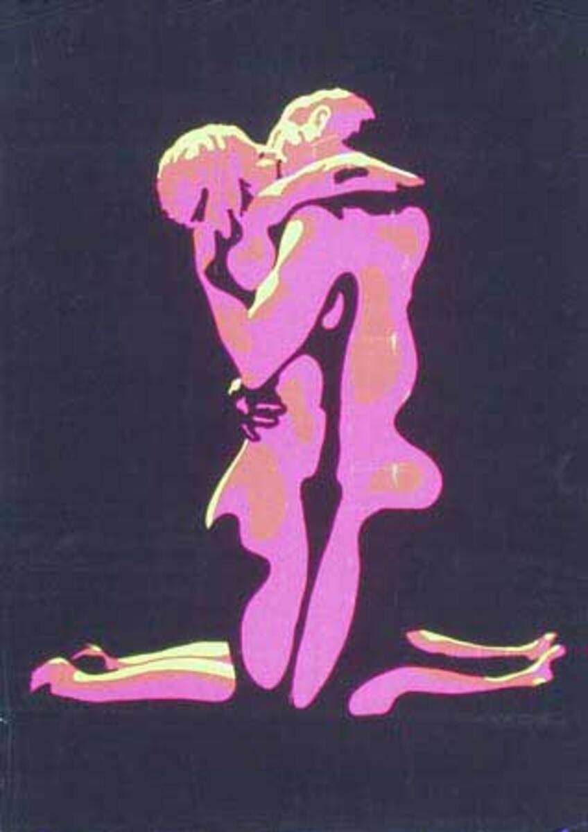 Day Glo Nuce Couple Original Vintage 1960s Psychedelic Poster