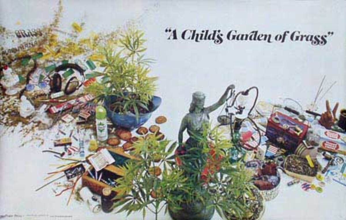 A Child's Garden of Grass Original Vintage 1960s Psychedelic Poster