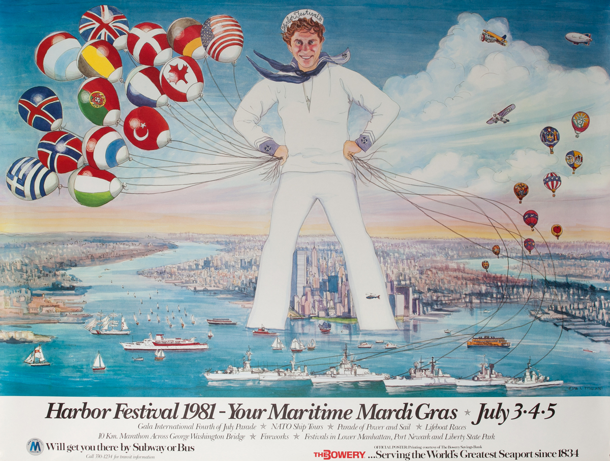 New York City (NYC) Harbor Festival Poster 1981